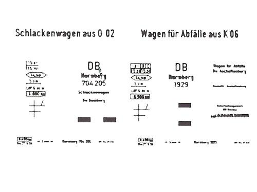 Beschriftungssatz für Schlackewagen aus Basis O 02 und K 06