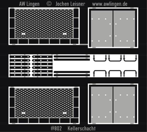 Kellerschachtabdeckung - Blechabdeckung für Kellerschächte,z.B. Kohlenkellerzugang etc.
