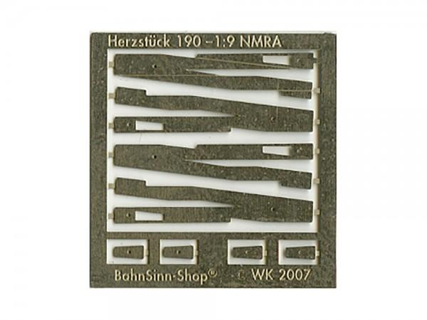Herzstück-Futterstücke EW 190-1:9 (NMRA)