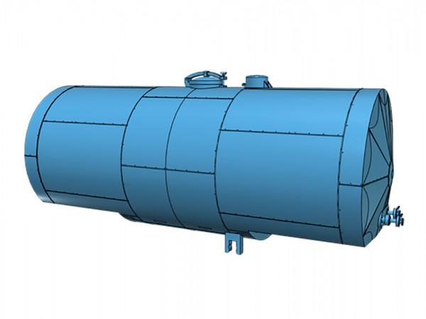 Tauschkessel 24 cbm mit Isolierung für Kesselwagen der Einheitsbauart - 3D-Druck