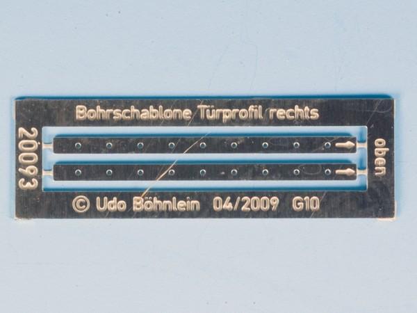Zurüstsatz 5 für BRAWA-G10: Bohrschablone für Türprofil