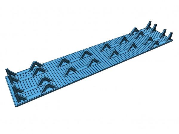 7-ständiger Coiltransport - Tauschboden für SSkm49 (Klein Modellbahn/Roco) - 3D-Druck