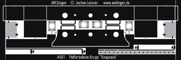 Pufferbohlen für Knapsack (Makette Bausatz)