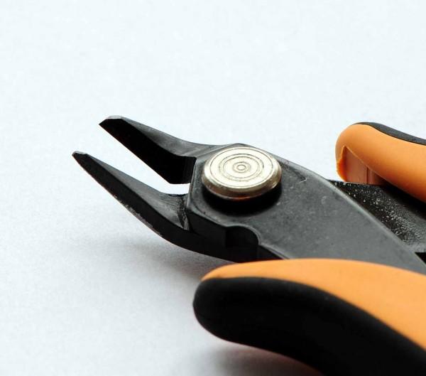 Elektronik-Seitenschneider ohne Wate fein für Messingdrähte bis 1,3 mm
