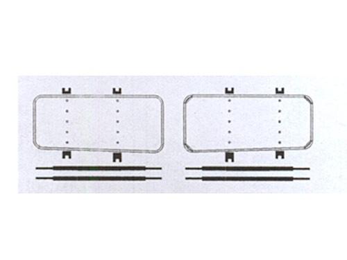 Witte-Windleitbleche mit Nieten für Baureihe 50.35 Reko DR