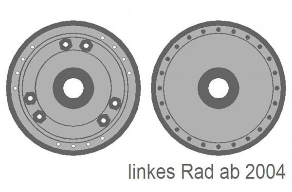 Radscheiben-Elemente für Taurus ab Baujahr ca. 2004, hellgrau lackiert