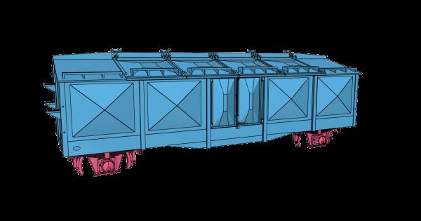 Bausatz Kmr35 - Klappdeckelwagen ohne Bremserhaus - 3D-Druck