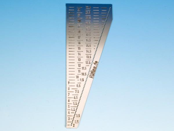 Lehre zum Biegen von Drähten bis 0,4 mm