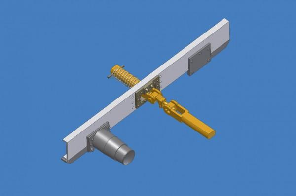 Kurzkupplung für Vorortbahnen und Leig-Einheiten (Puffer und Kupplung)