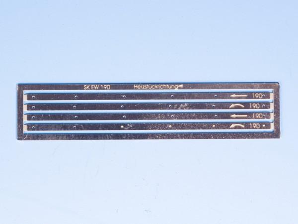 Bohrschablone für Stützknaggen EW 190 - 1:9 und EW 300 - 1:9