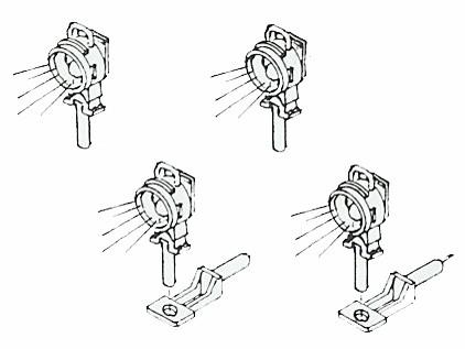 Reichsbahnlaternen mit Blindscheibenhalter, beleuchtet mit Microlämpchen