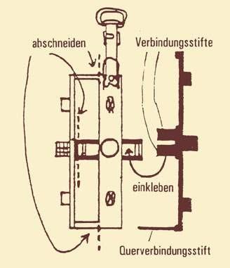 Drehgestellblenden für Märklin 4137 (bayrischer Packwagen), Weißmetall