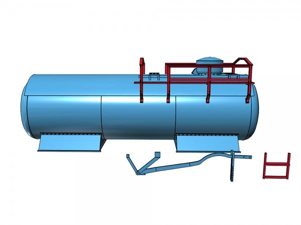 VTG Fährboot Chemiekesselwagen - Umbausatz Brawa-Kesselwagenfahrwerk - 3D-Druck