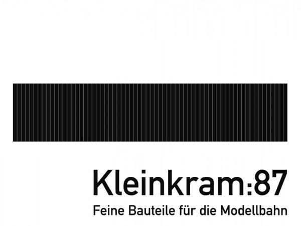 Wagenboden für Roco Kbs442/443 (Rlmms 56/58) und andere UIC Rungenwagen - Neusilber geätzt