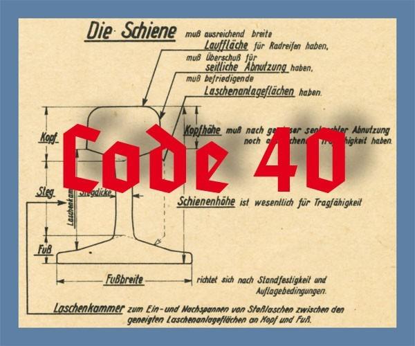 Schienenprofil Code 40 blank, 2 x 350 mm