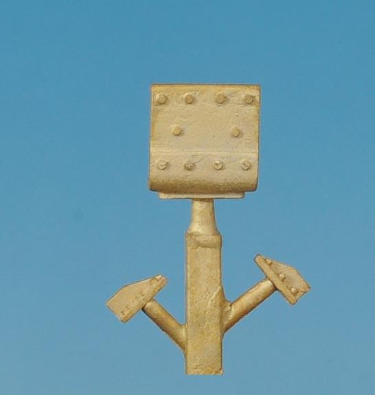 Kleine Winkelverschraubung, Abdeckplatte - Spur 0