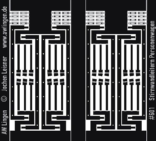 Stirnwandleitern für Personenwagen mit 7 Stufen