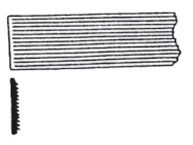 Lüfterblenden-Basismaterial, Weißmetall
