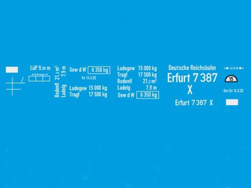Beschriftungssatz X Erfurt auf G München-Kassel Fahrwerk