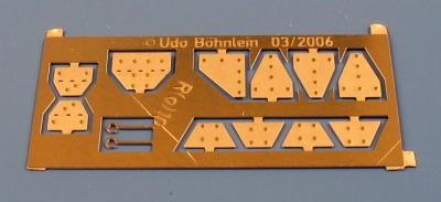 Knotenbleche für Fahrwerk der Verbandsbauart, Halter für Bremslösezüge