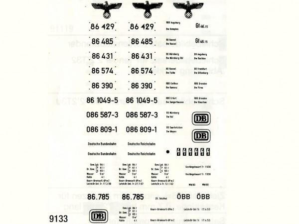 Schiebebildersatz Baureihe 86