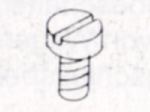 Schrauben DIN 84, M 2 x 6 mm, Nylon