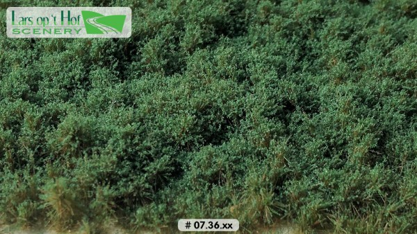 Büsche dunkelgrün niedrig 15 x 21 cm
