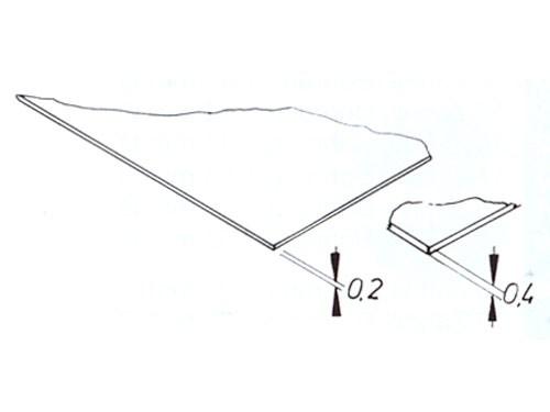 Glasklare Kunststoffplatten 0,20 mm stark