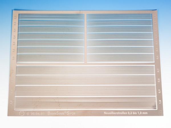 Neusilber-Streifen, geätzt 0,2 mm, verschiedene Breiten