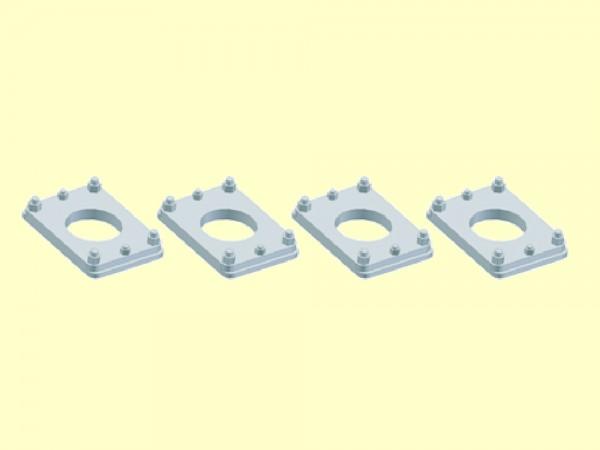 Spannplatte für ital. Puffer Tipo25, ø 2,0 mm