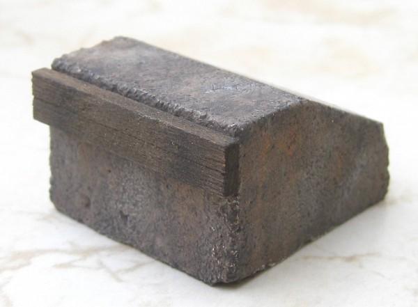 Beton-Prellbock, Vorbild Bf Aue, eckig, fertig patiniert