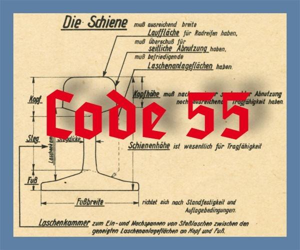 Schienenprofil Code 55 brüniert, 12 x 910 mm