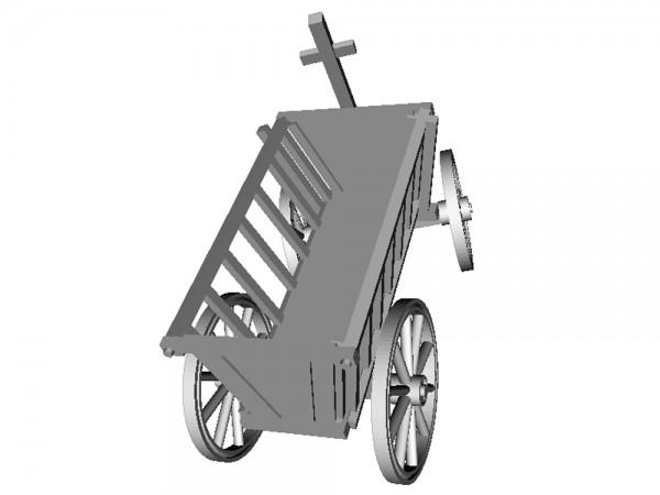 Opa's kleiner Handwagen, Leiterwagen, Deichsel eingelenkt - 3D-Druck