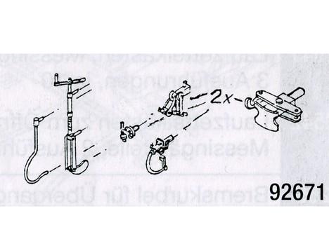 Bremskurbel, Bremsschläuche, E-Kupplung, Heiz- und Mittelpufferkupplung für Schmalspurwagen