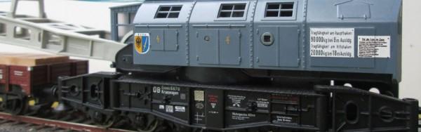 Beschriftungssatz für 90t Kranzug der DB Essen (Deutsche Bundesbahn) Epoche III