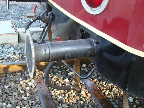 Federpuffereinsatz Leichtbaupuffer ø 370mm, Pufferlänge 530 mm für Triebwagen, z.B. VT 70.9 (VT135)
