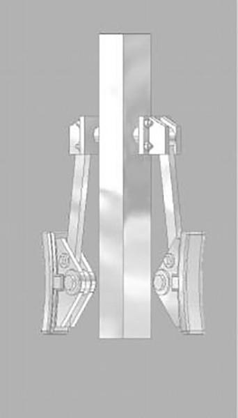 Italienisches Bremsgehänge für Montage an Querträgern