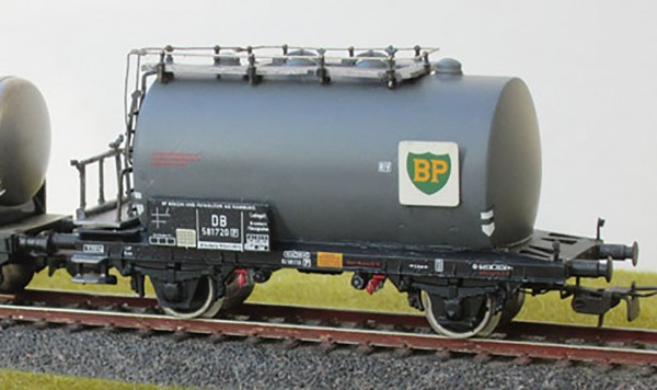 Beschriftungssatz für 8 Privatwagen (Kesselwagen) der Deutschen Bundesbahn (DB) Epoche III