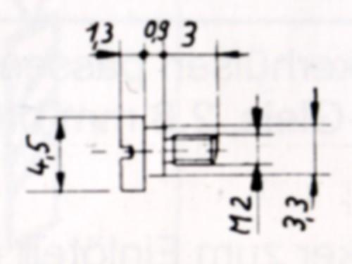 Bundschraube (Zylinderschraube mit Ansatz), brüniert 4,5 mm ø x 3,5 mm