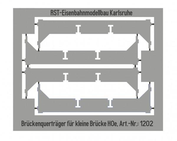 """Brückenqueträger für """"Kleine Brücke"""" Spur H0e"""