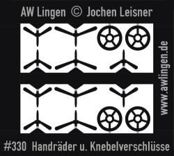 Handräder und Knebelverschlüsse für Kesselwagen