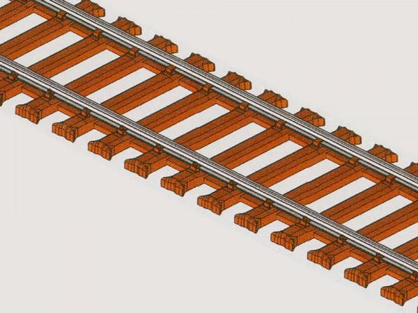 """""""mein Gleis"""" - Gleis mit Stahlschwelle 914 mm"""
