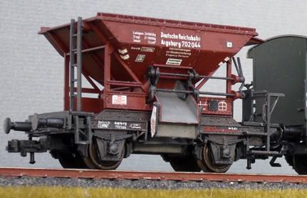 Beschriftungssatz Schüttgutwagen (OOt, Schotterwagen) DRG - Epoche II