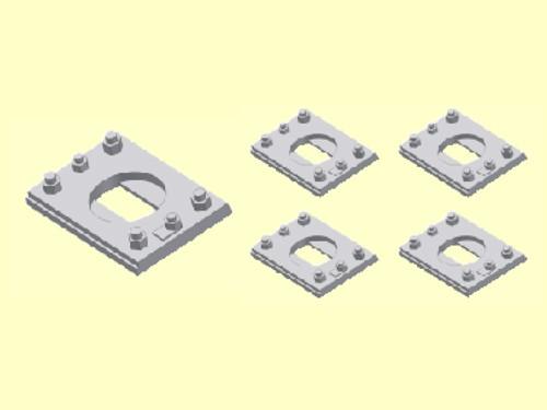 Spannplatte für UIC Puffer 620 Form C