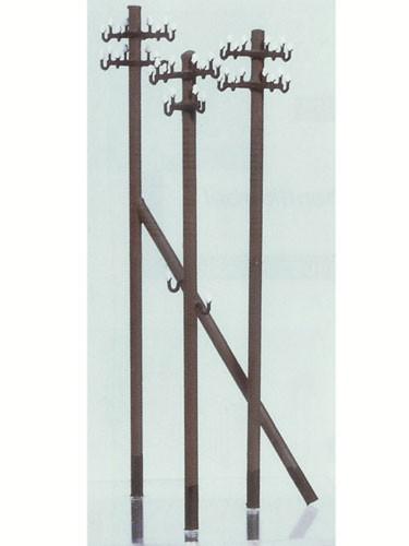 Telegrafenmasten mit geätzten Traversen (Einzelmasten) - Spur TT