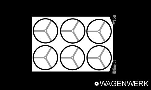 Handräder für bodenbedienbare Handbremse 4,8 mm
