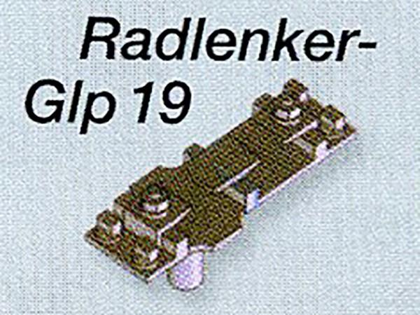 Mein-Gleis Gleitplatten Glp19 mit Befestigung für Radlenker - Messingfeinguss