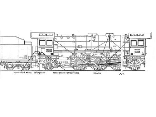 Beschriftungssatz Baureihe 03 und 03.10 DB