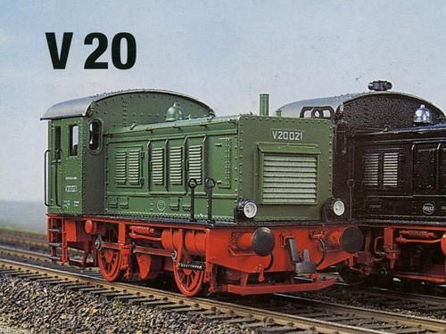 V20 Komplettbausatz DRG, NEM-Radsätze, Mabuchi-Motor