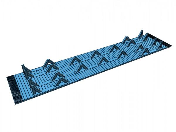 6-ständiger Coiltransport - Tauschboden für SSkm49 (Klein Modellbahn/Roco) - 3D-Druck